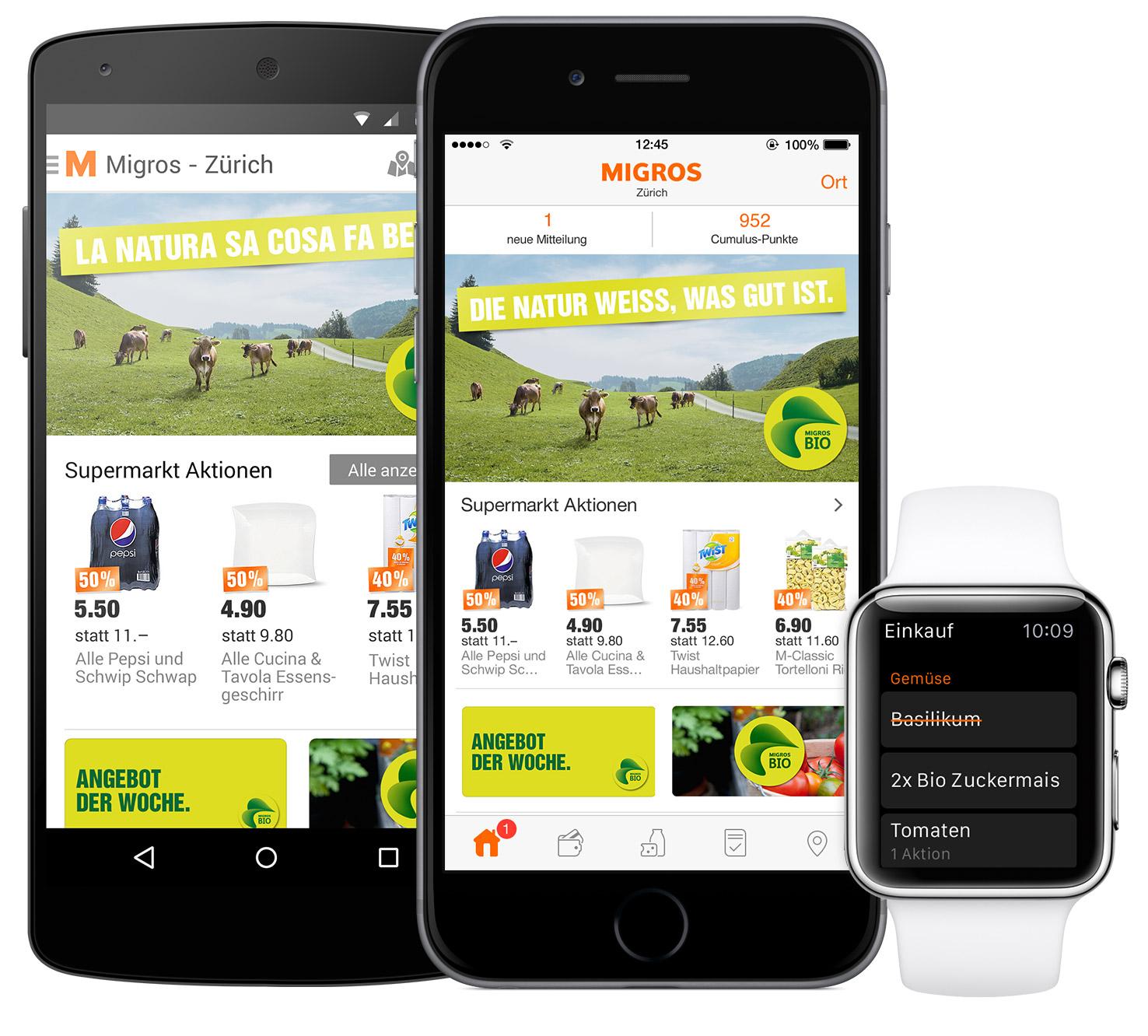 cross-platfrom Migros app