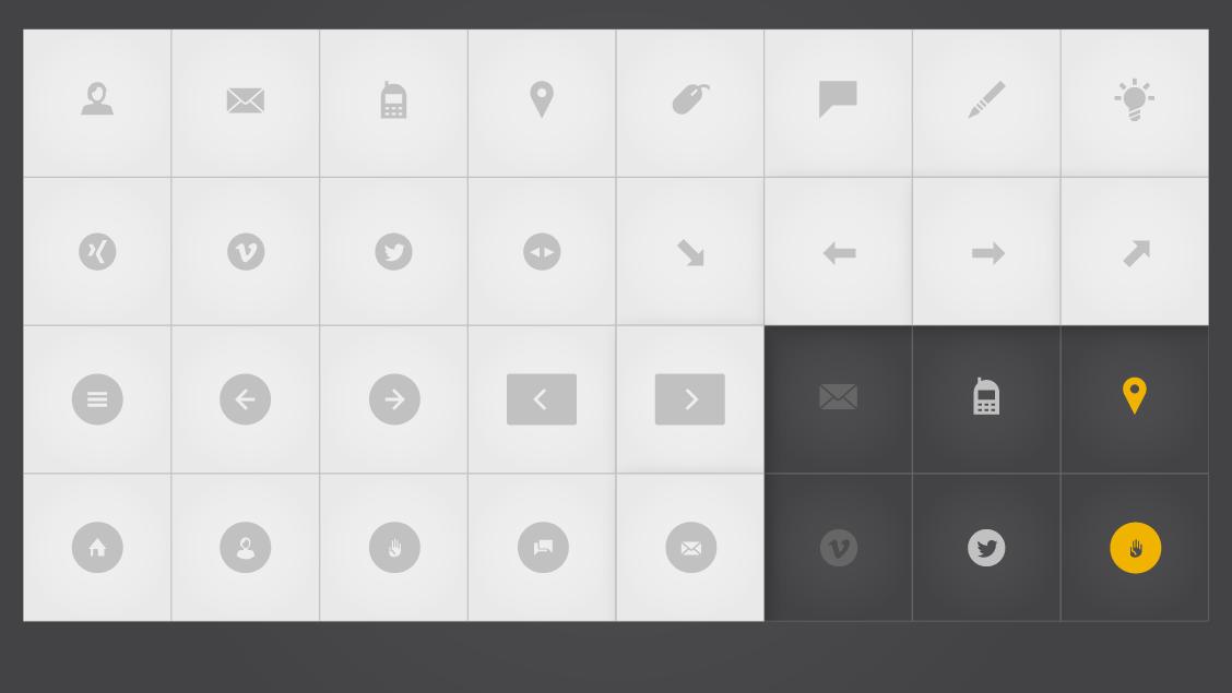 Icons of my portfolio site